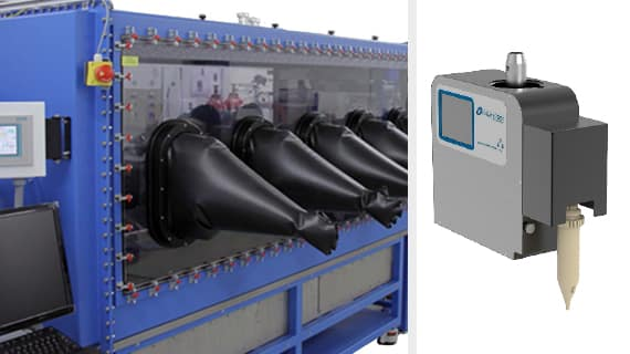 Automated Solid Dosing inside MBraun glovebox