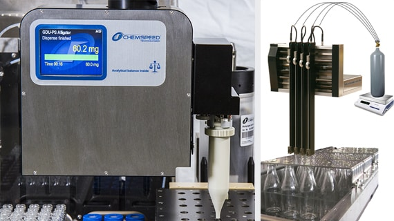 Automated Dispensing of Powders and Liquefied gas Monomers
